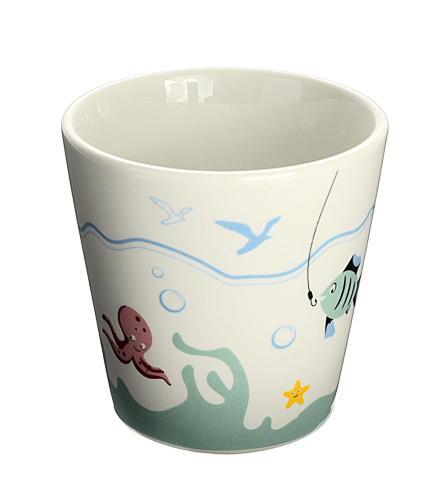 HAPPY FISHING Cup, porcelain