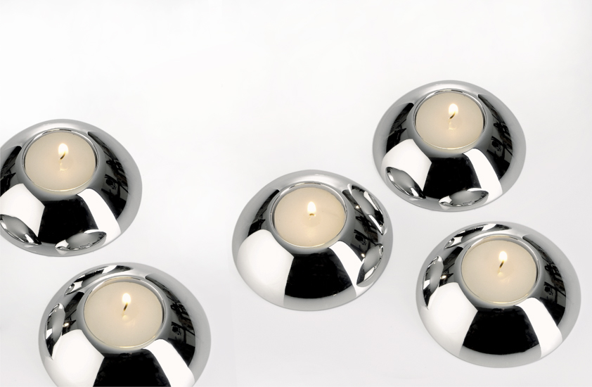 NEW MOTIONS tealight holder, silver